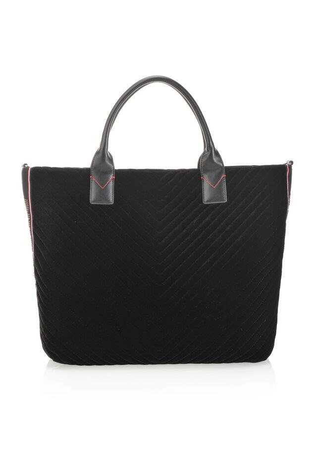 Maxi shopping bag in chevron velvet