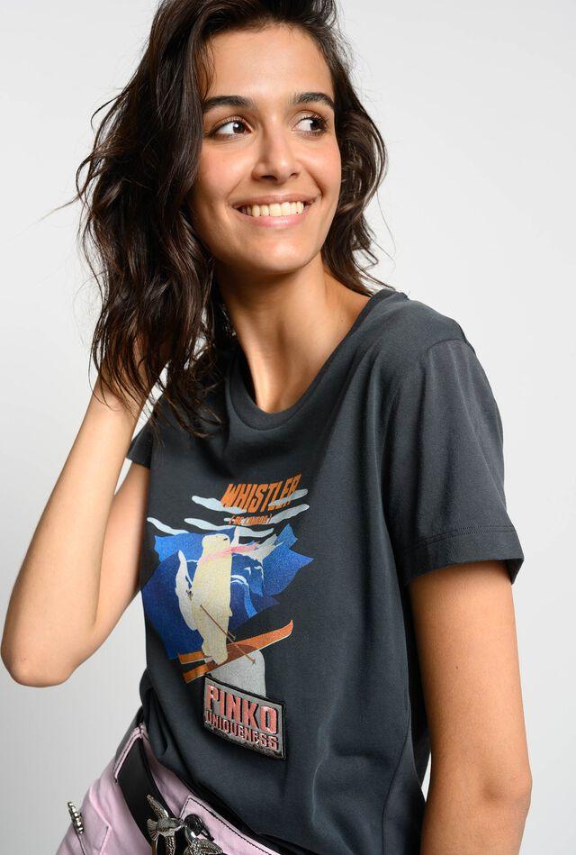 T-shirt with polar bear print