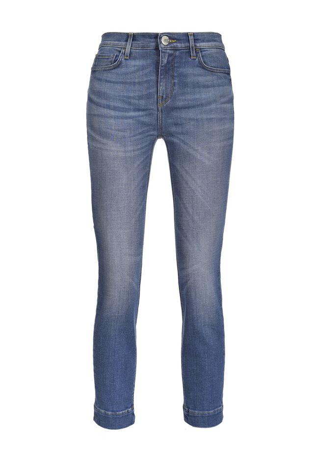 Skinny cropped jeans in comfort denim