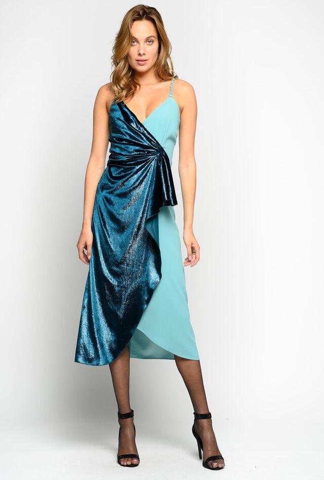 Velvet and satin dress