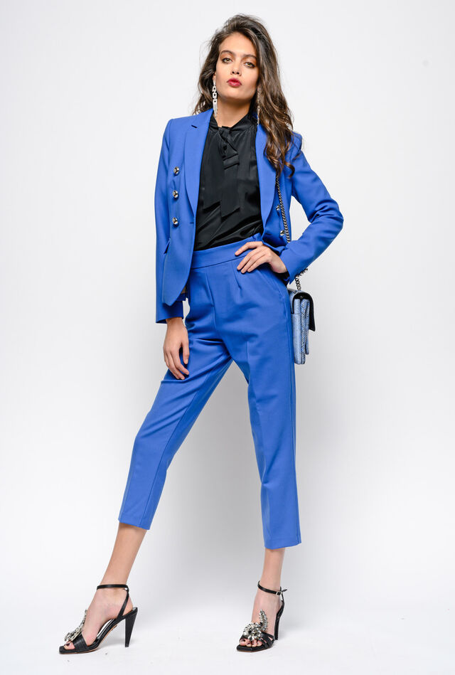Giacca blazer in lana stretch