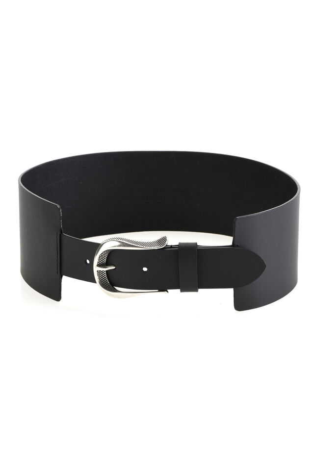 Maxi belt with metal buckle