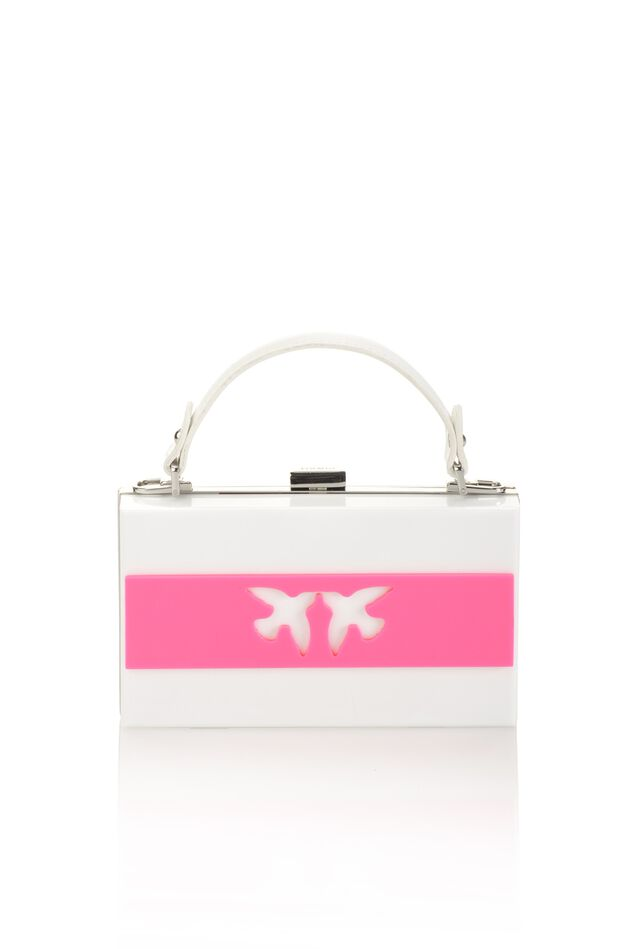 Clutch rigida squadrata con Love Birds