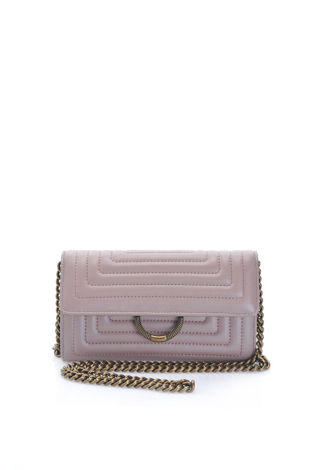 Shoulder wallet in quilted nappa leather