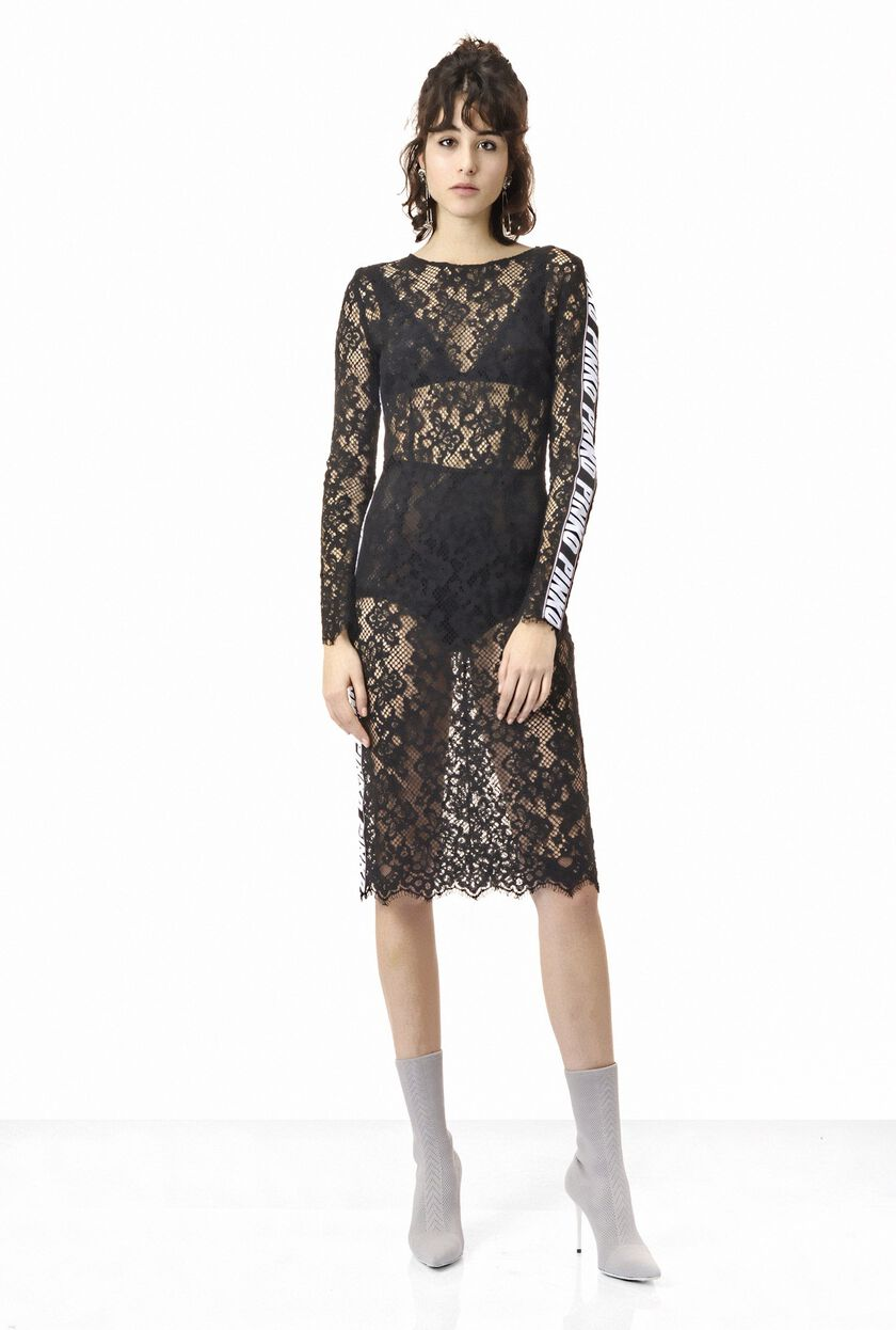 Dress in rebrode lace