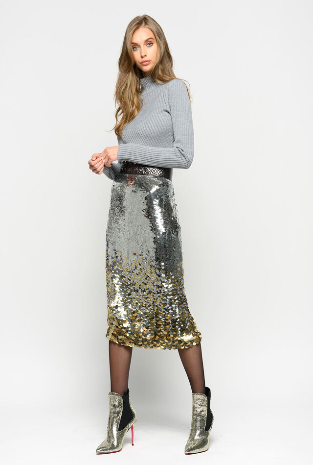Skirt full of shaded sequins