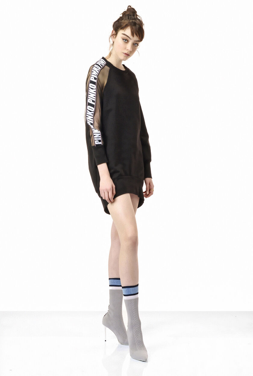 Cotton fleece sweatshirt dress