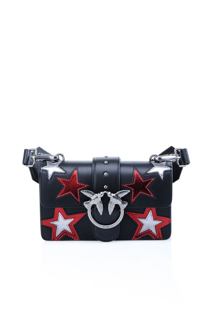 Calfskin Nappa Mini Love Bag with Inlaid Star Details