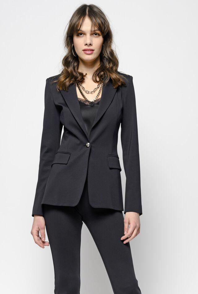 Technical Milano stitch blazer