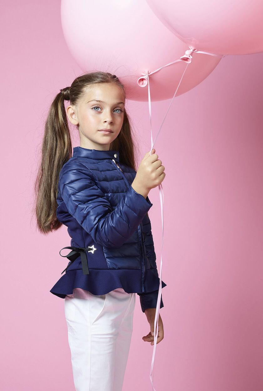 Lightweight plastic ciré quilted jacket