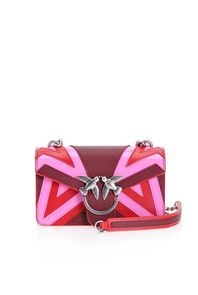 Mini Love Bag Chevron en cuir caviar