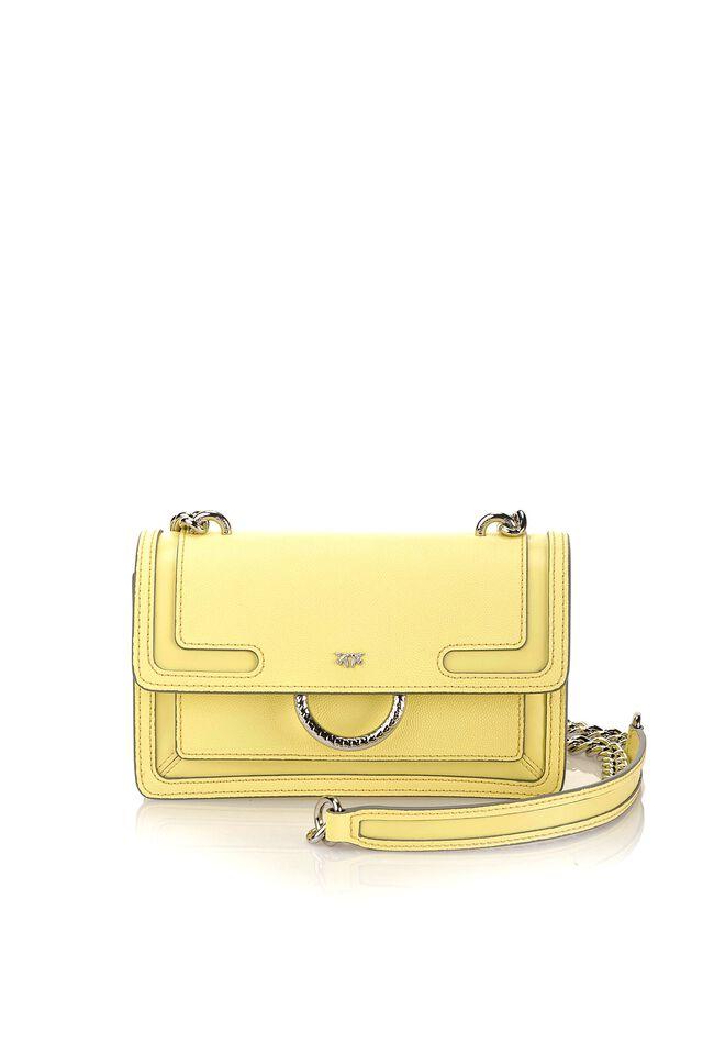 Mini Love Bag New in pelle caviar con intarsi