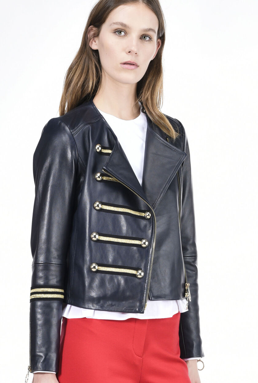 Soft nappa leather jacket