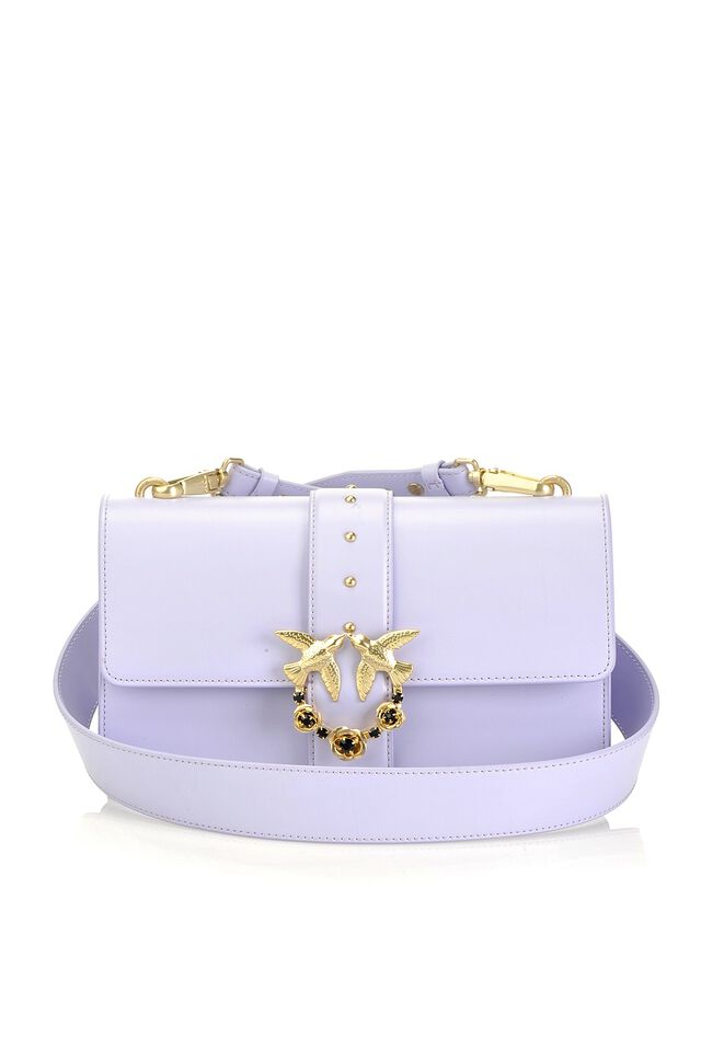 Love Bag Simply in leather with jewel buckle