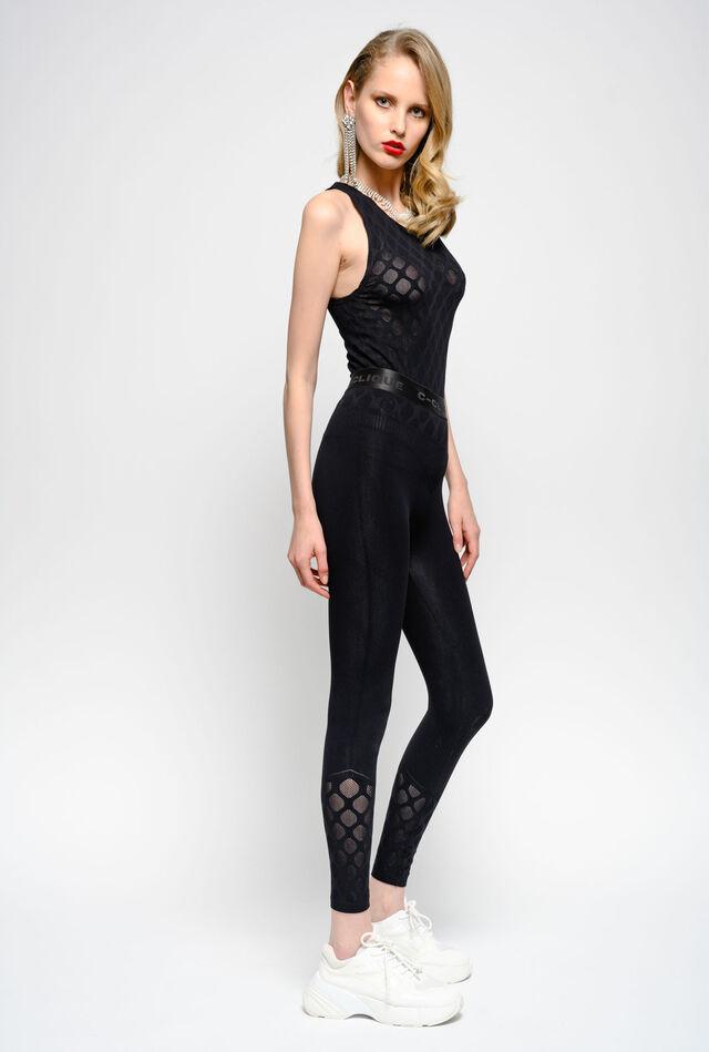 Seamless technical fabric leggings