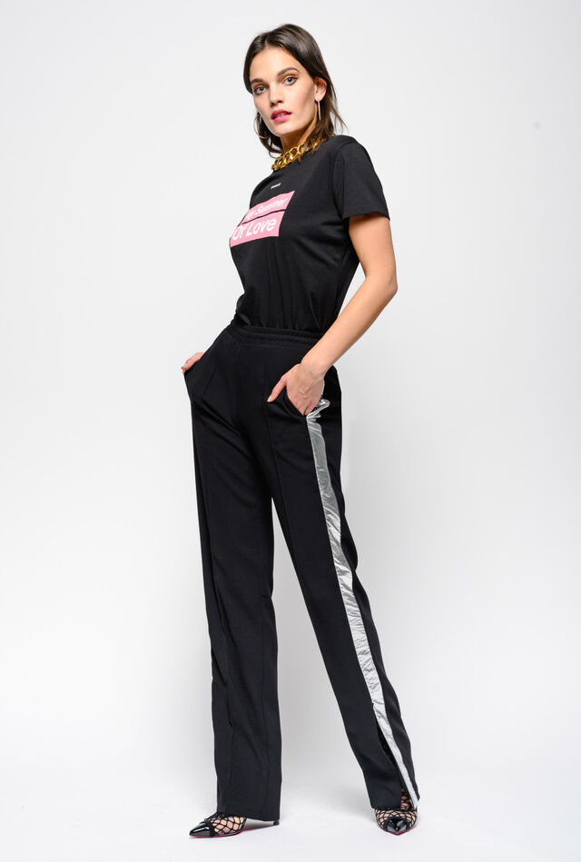 Jogging trousers in crepe