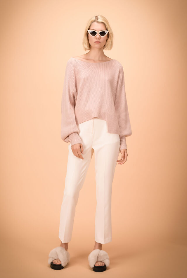 Stretch crêpe trousers
