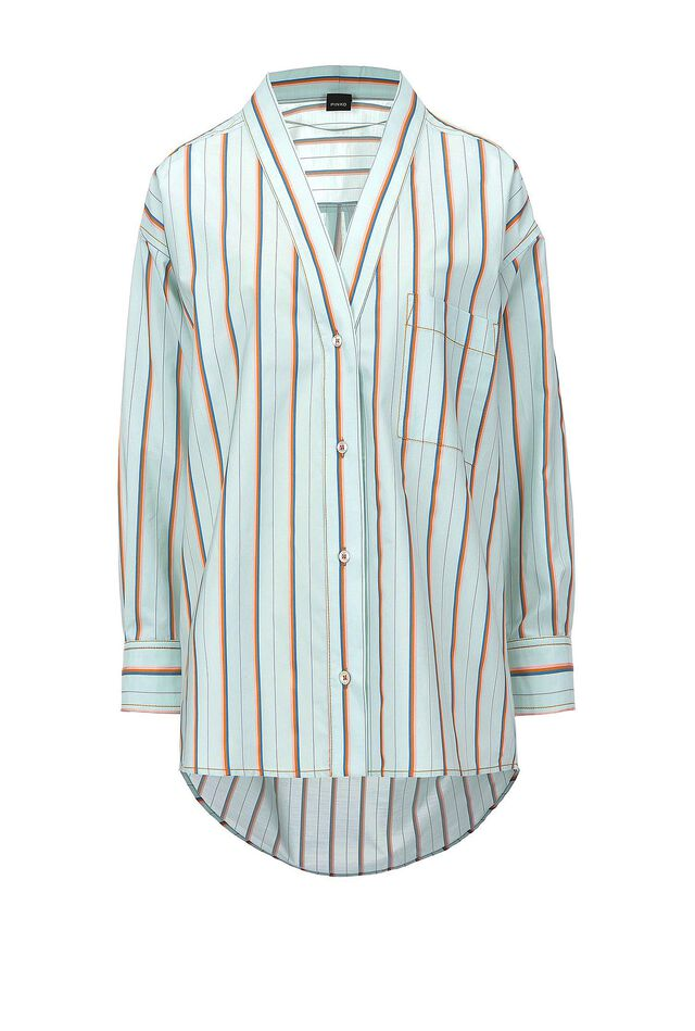 Oversize shirt in striped cotton