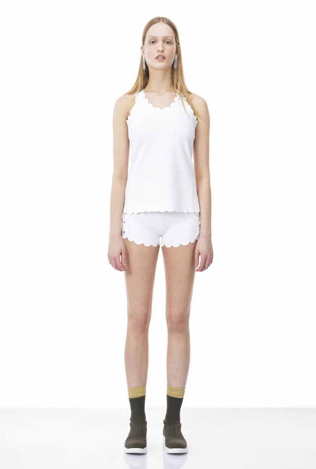 Shorts in textured jersey technical fabric