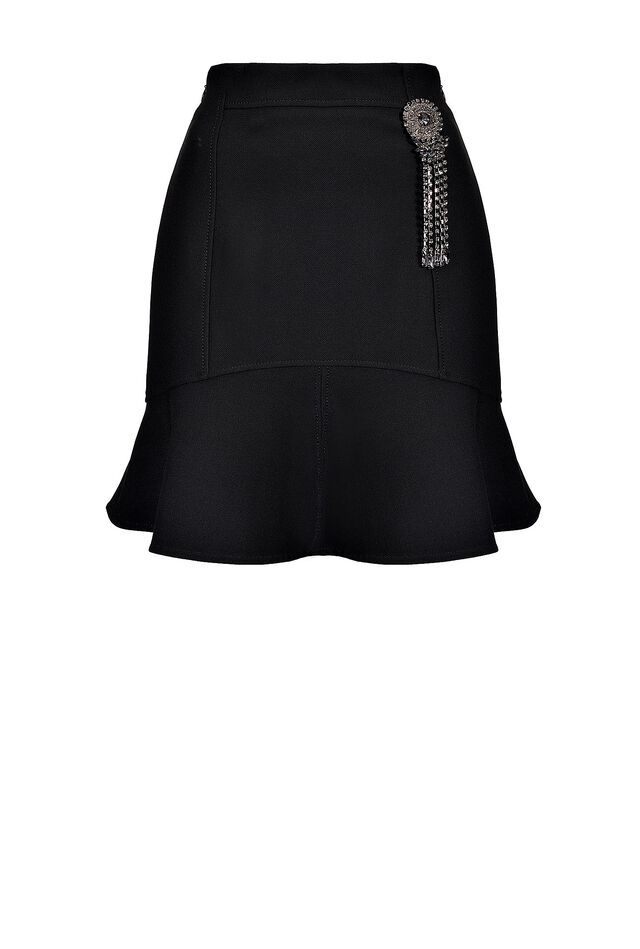 Mini skirt with jewel detail