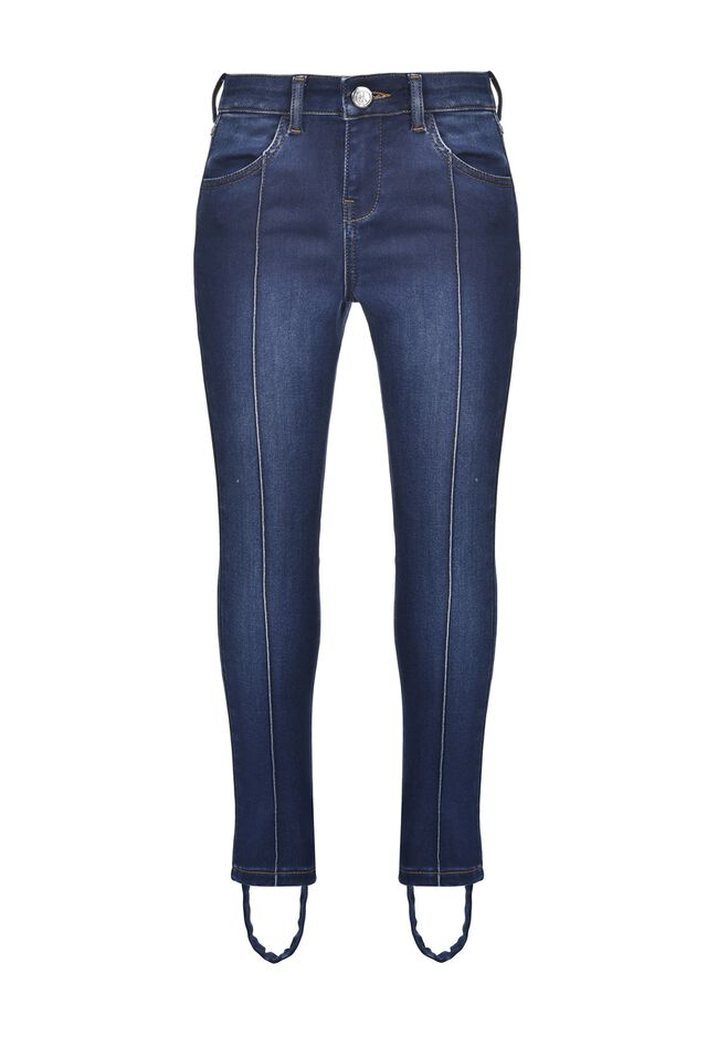 Super skinny jeans with stirrup straps