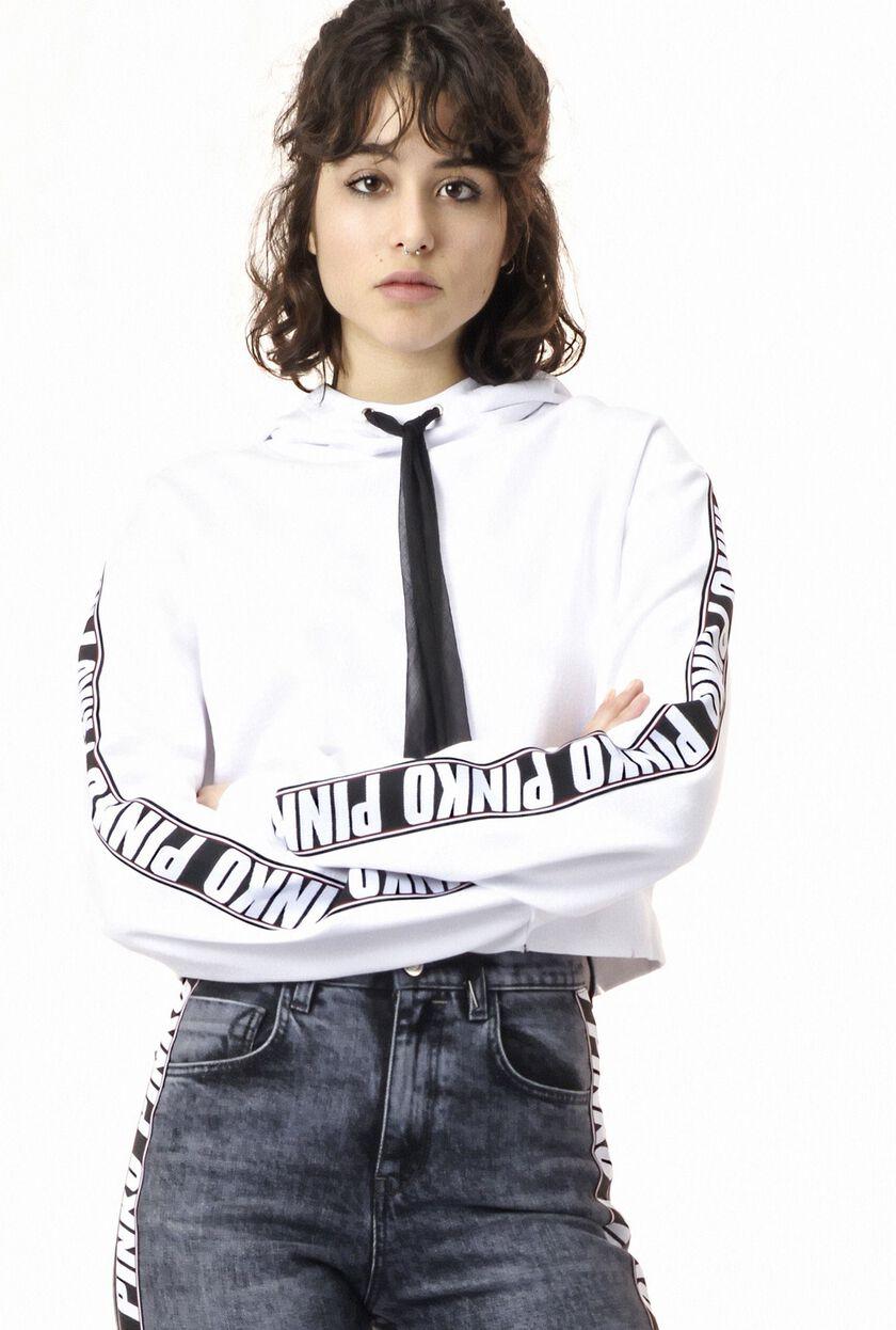 Cropped cotton sweatshirt