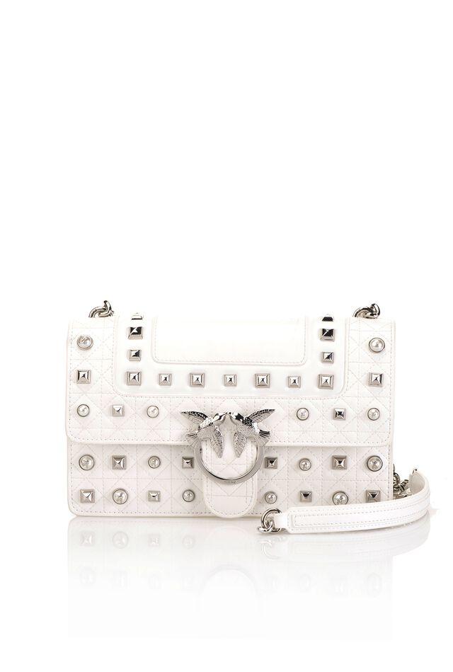 Love Bag Idillio in pelle con borchie e perle