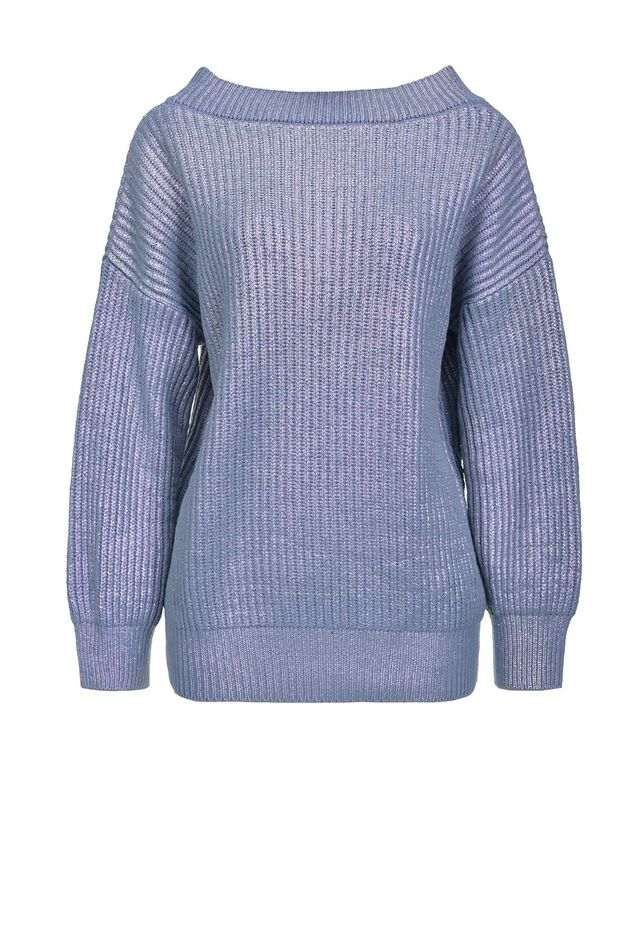 Metallic-effect pullover