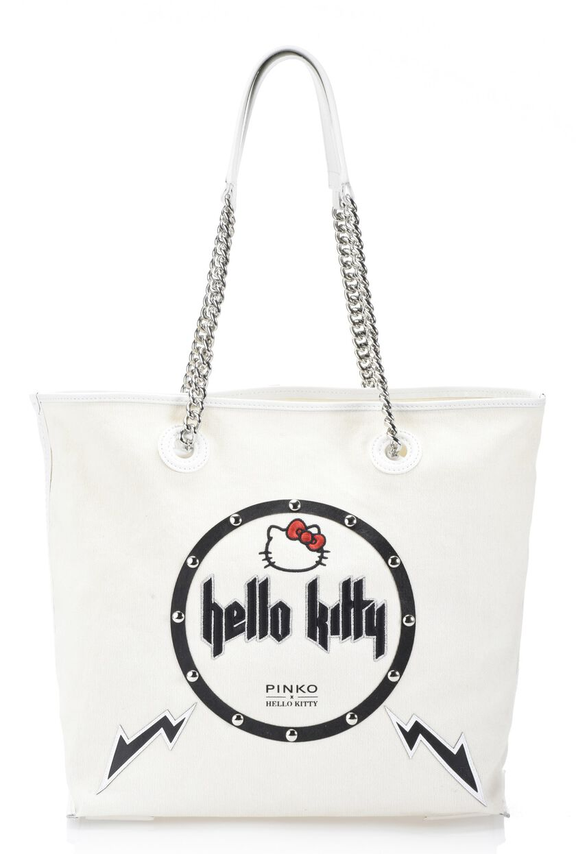 Hello Kitty Rock canvas shopper with embroidery and studs
