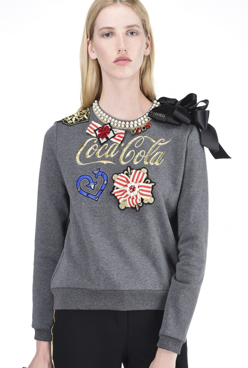 Sweatshirt with appliqué details