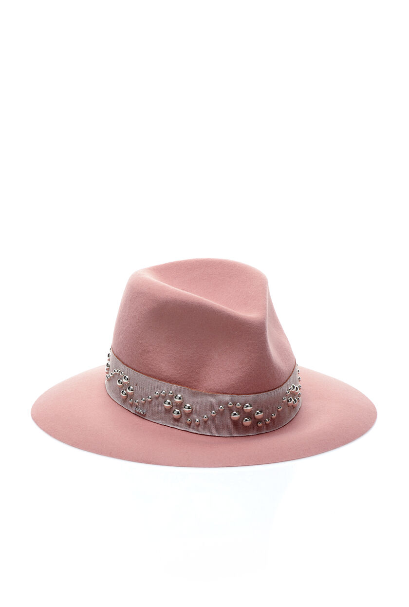 Felt hat with studs