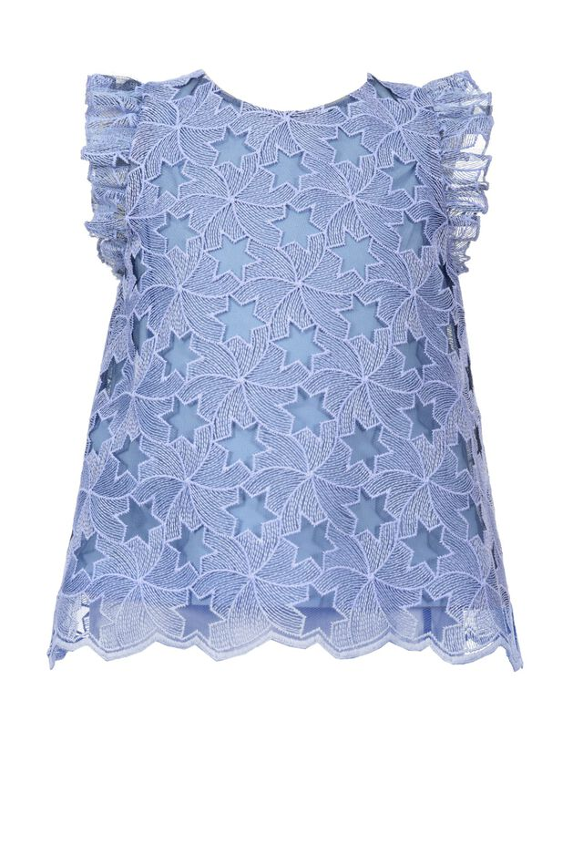 Tulle top embroidered with stars