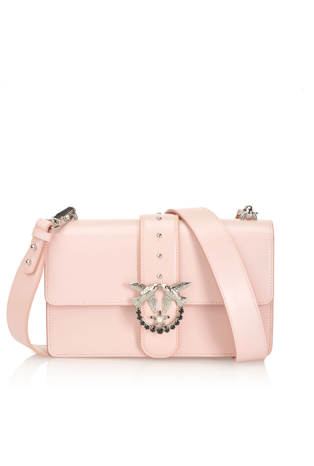 Leather Love Bag Simply with bejewelled buckle