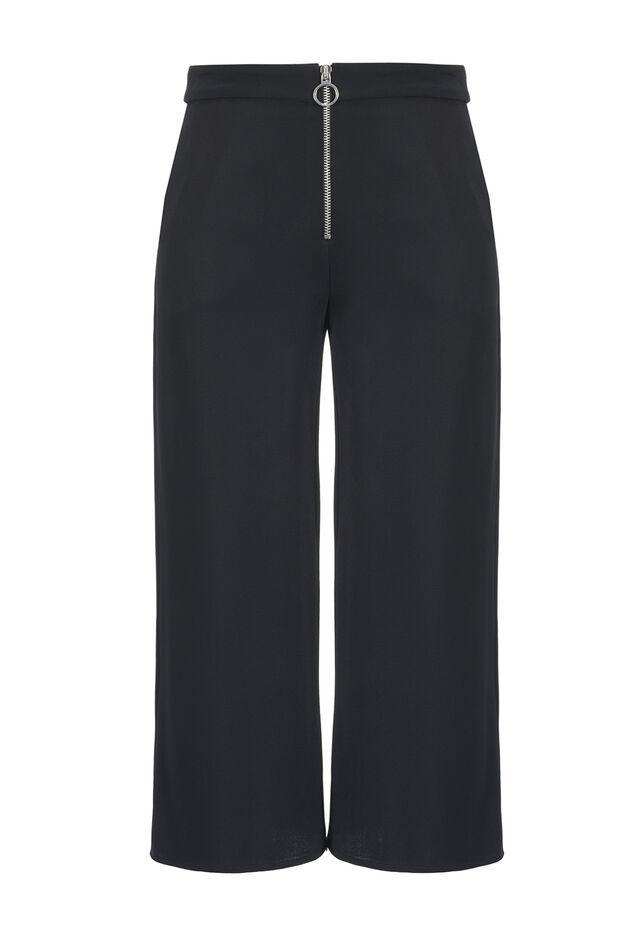 Pantaloni ampi in crêpe doppio