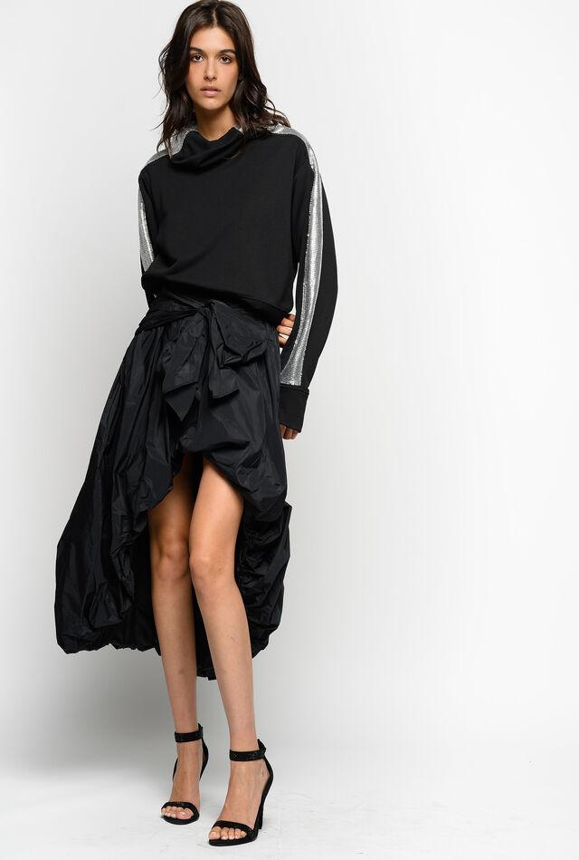 Falda de tafetán con lazo