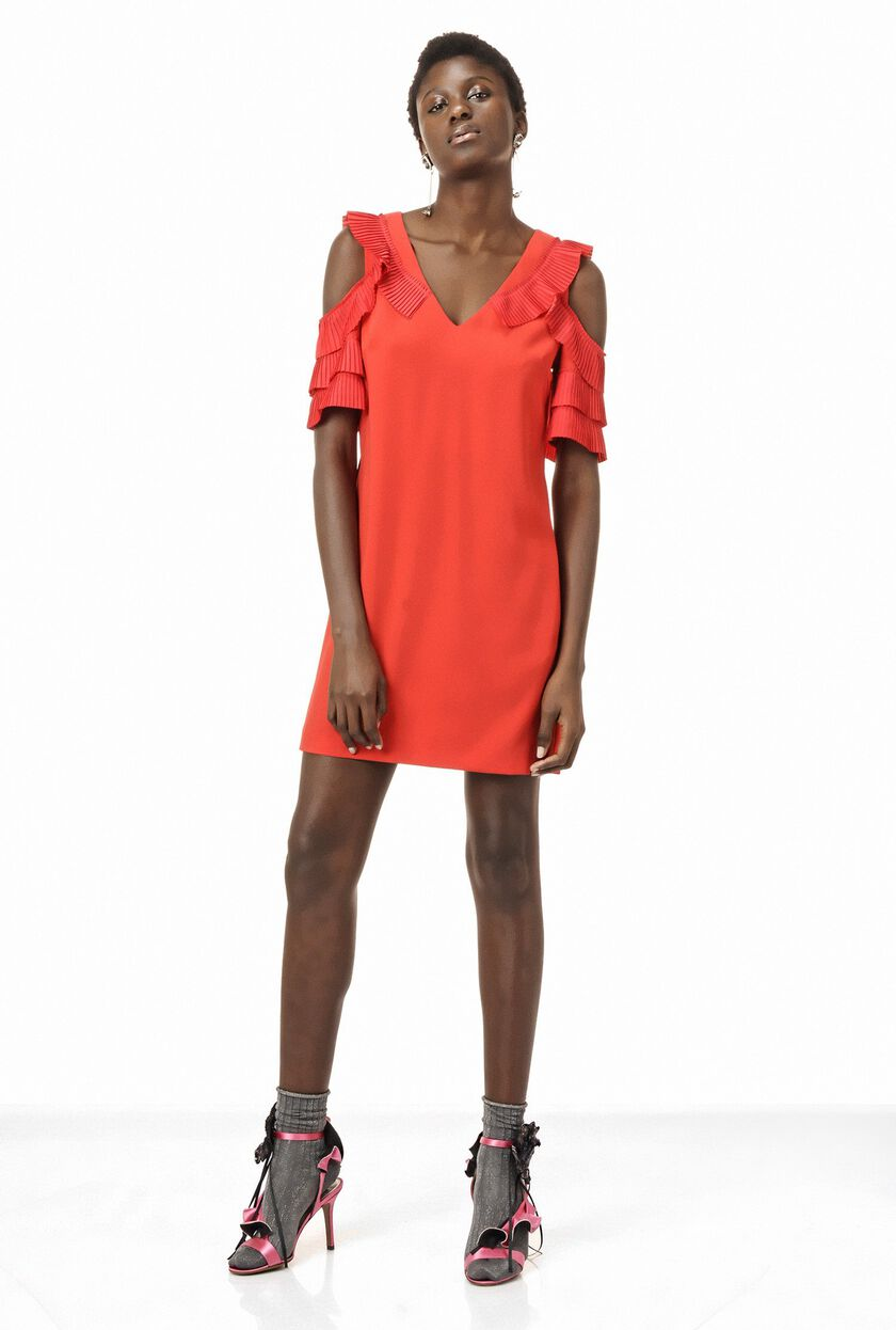 Poly crepe dress