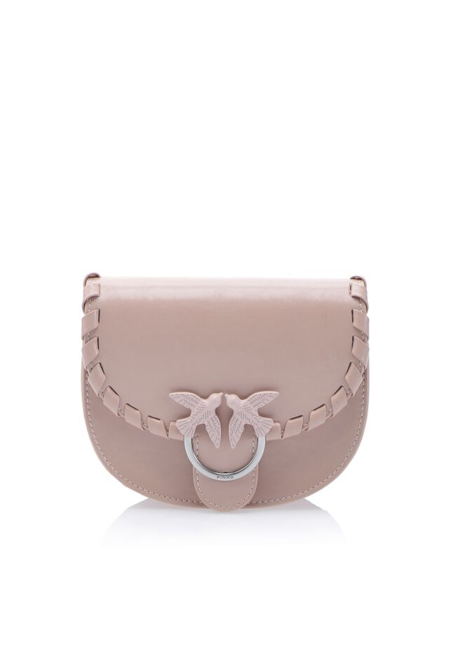 Twist Baby Round Love Bag in leather