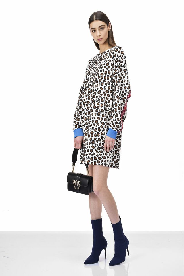 Dress in animal print fleece
