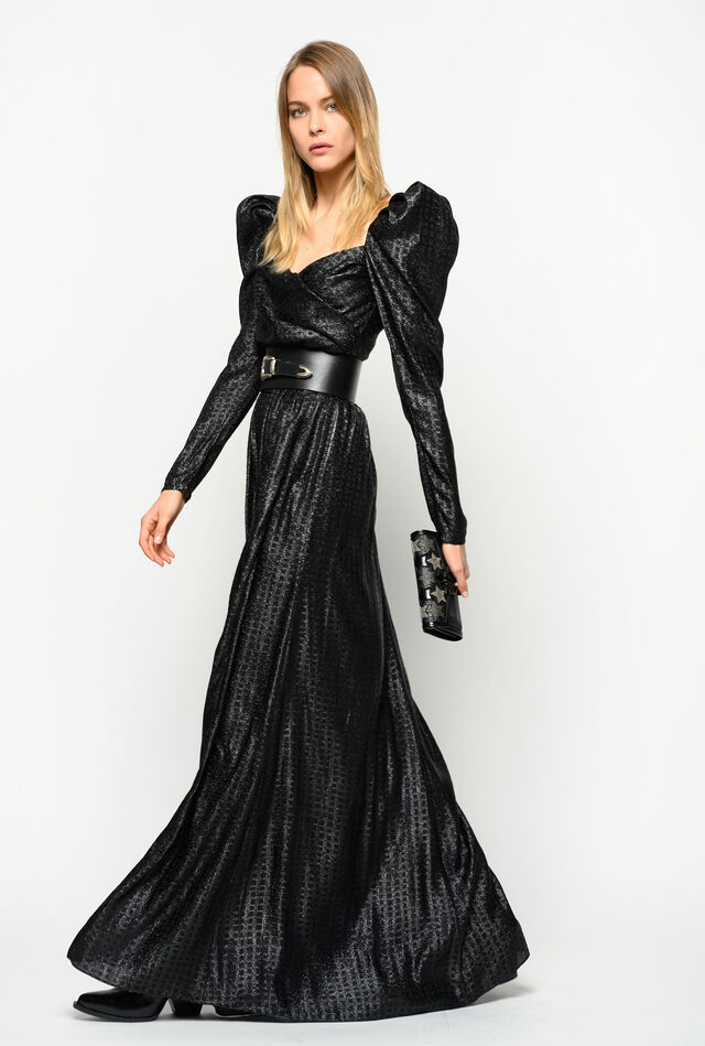 Fil coupé long dress