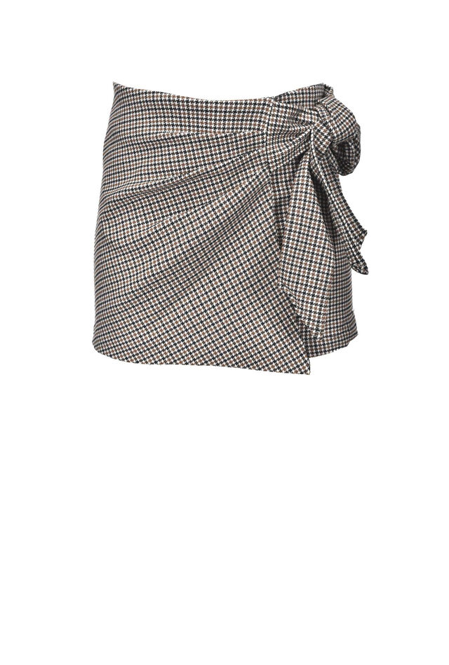 Houndstooth pattern shorts