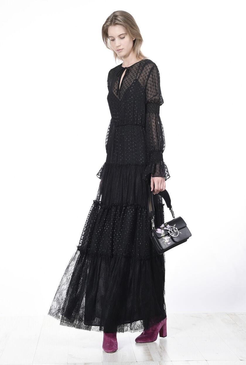 Vestido largo de plumeti