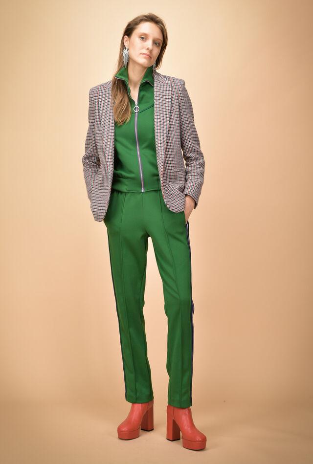 Pantalone in felpa tecnica con bande laterali