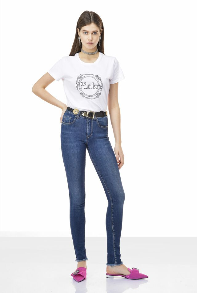 Mid-rise super skinny jeans