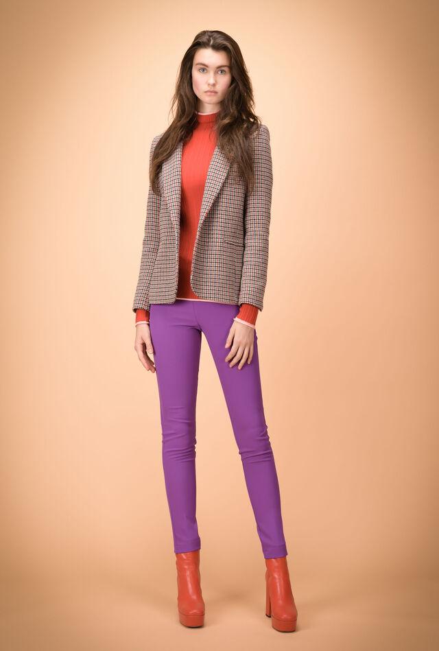 Stretch crêpe trousers
