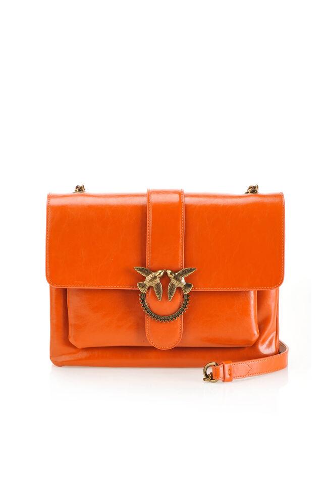 Big Love Bag in pelle effetto vintage