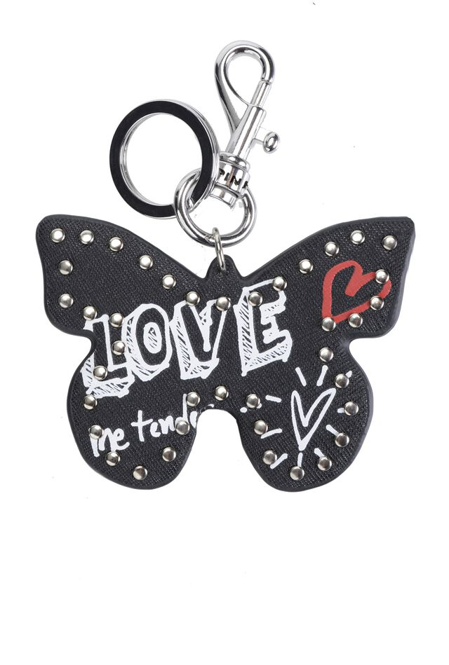 Butterfly keyring in Saffiano leather