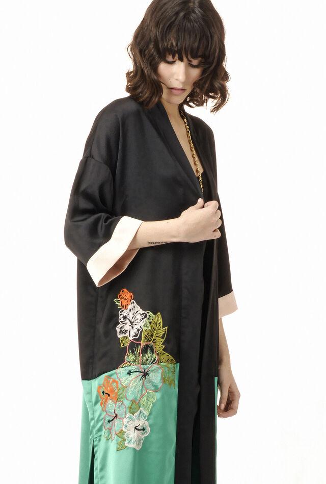 Poly crepe kimono