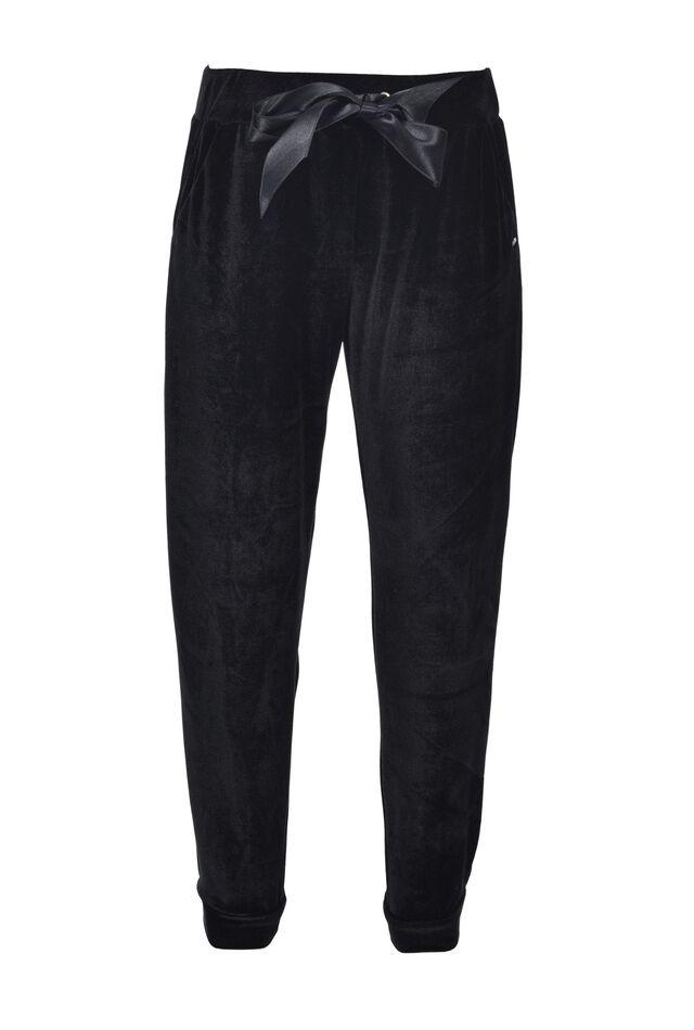 Бархатные брюки с бантом