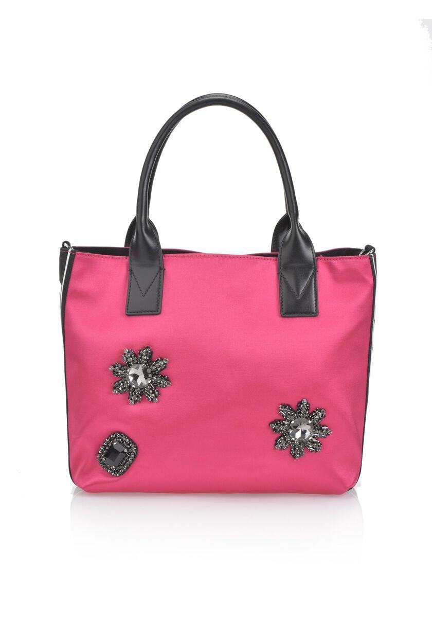 Pinko Bag in raso con applicazioni gioiello
