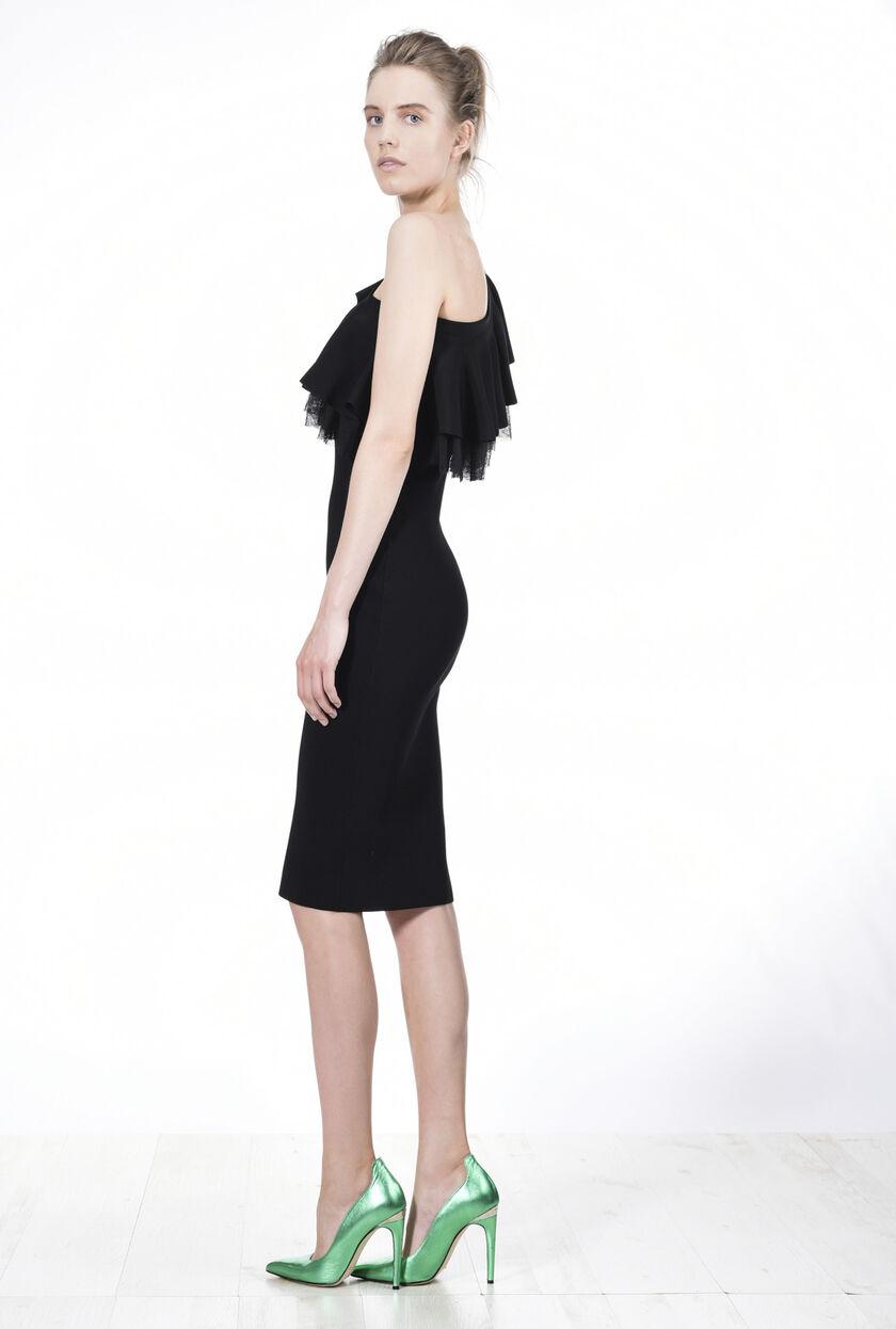 Vestido longuette de viscosa elástica
